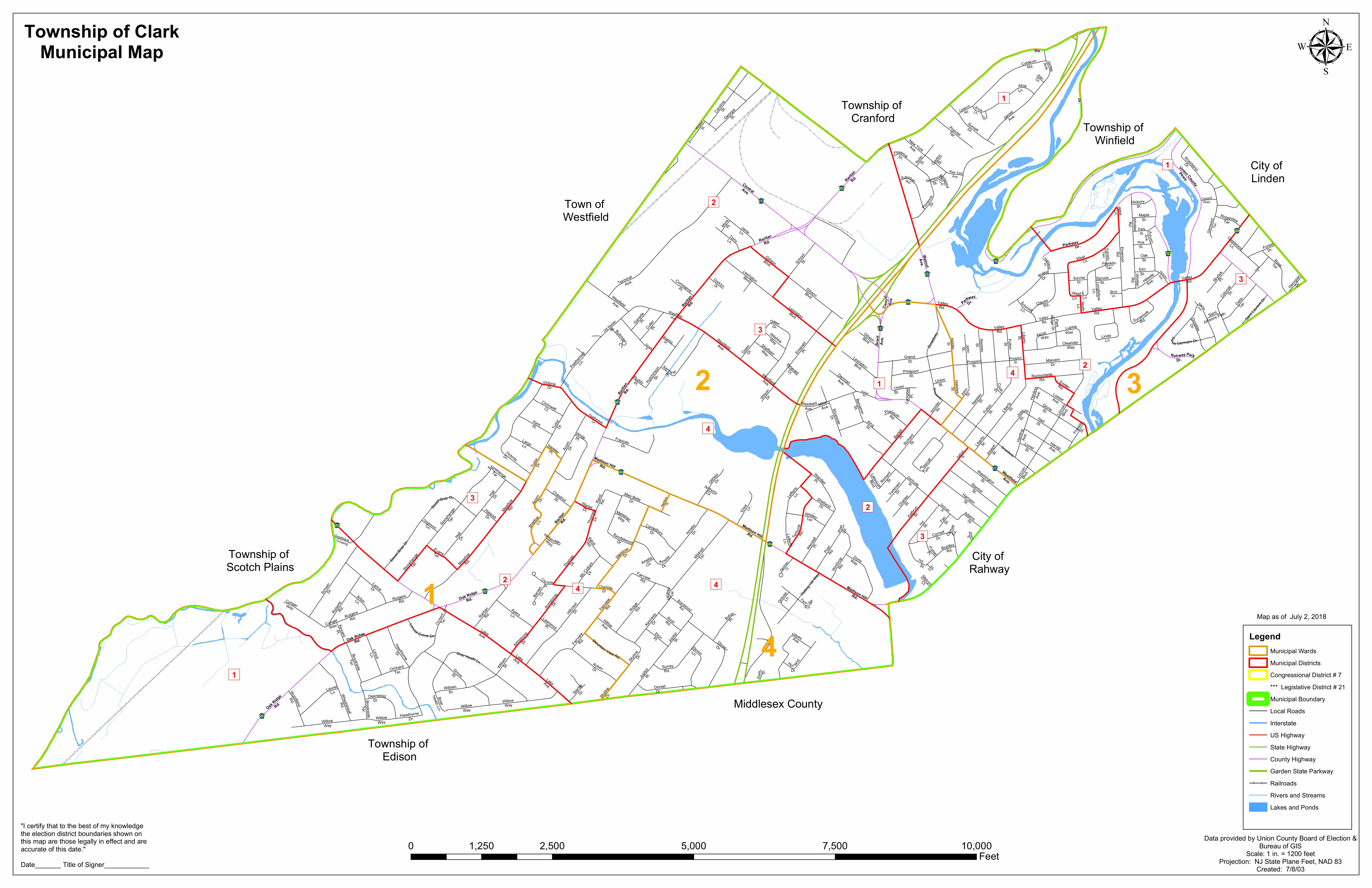 District Maps Union County Votes